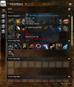Guild wars 2 cheapest 20 slot bag