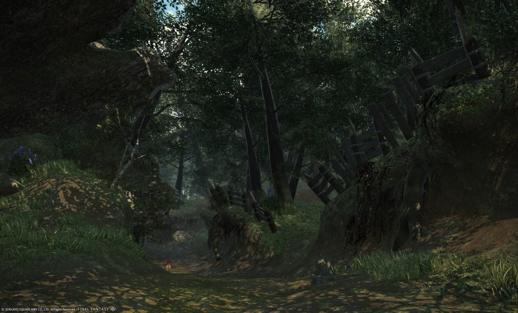 This trail west of Quarrymill is one of the best forest designs I've ever seen in a MMO.