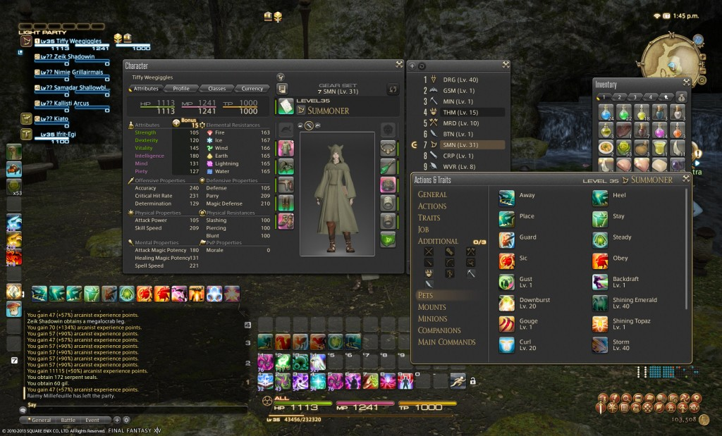 The FFXIV User Interface is very well designed.