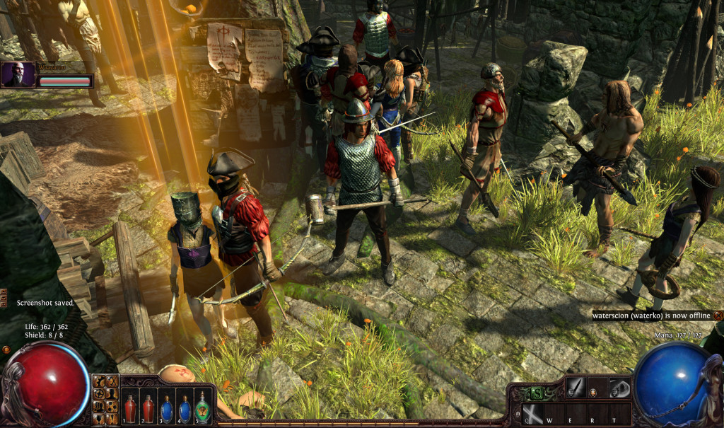 Act II is a busy hub with many other players.
