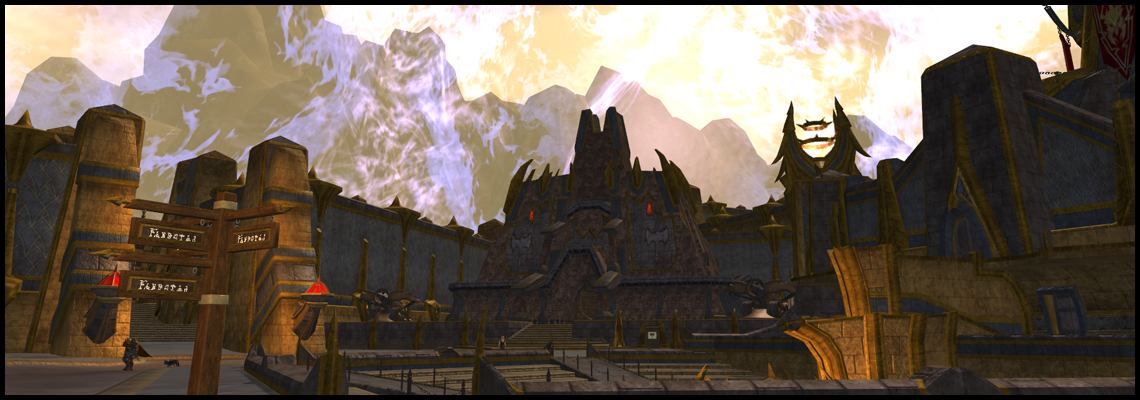 Welcome to Freeport! Don't mind the shield... or the dragons attacking the shield... All is well!