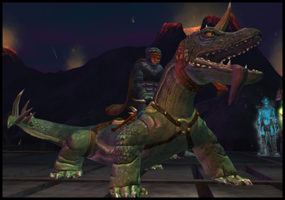 Apparently my giant lizard mount thinks it's a dog...