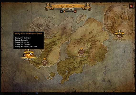 While in Adventure Mode you can now move between acts and review the bounties within each act.