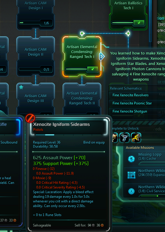 Wildstar's Crafting system allows players to make numerous useful items.