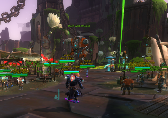 Thayd, heart of the Exiles, is teeming with players!