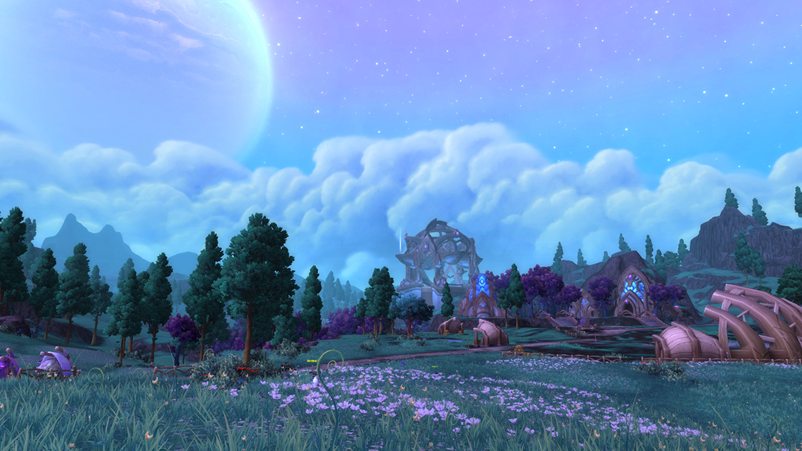 The beautiful landscape of Draenor.