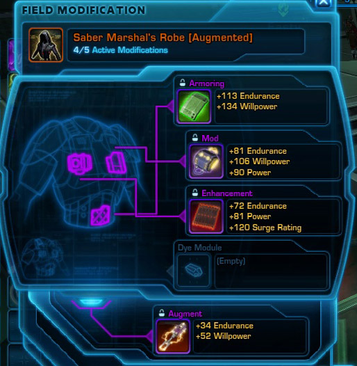 Item Modifications are the bread and butter of character progression.