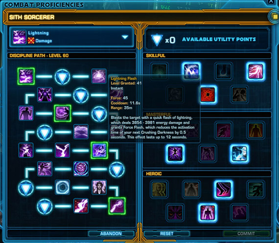 The new Combat Proficiencies system allows you to focus on specific build types.