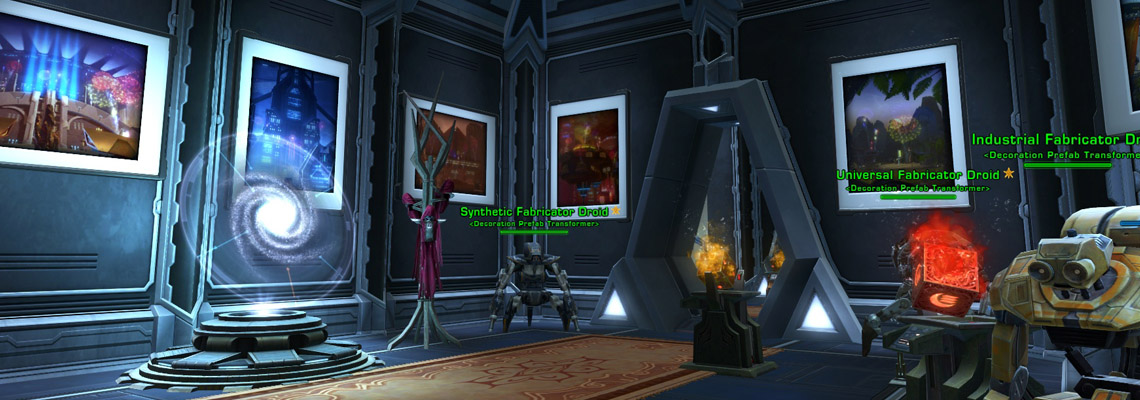 A few paintings... nice carpet... killer droids... this place is almost looking like home!