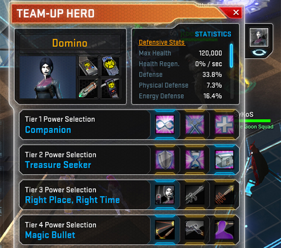 Time to configure your Team Up Hero!