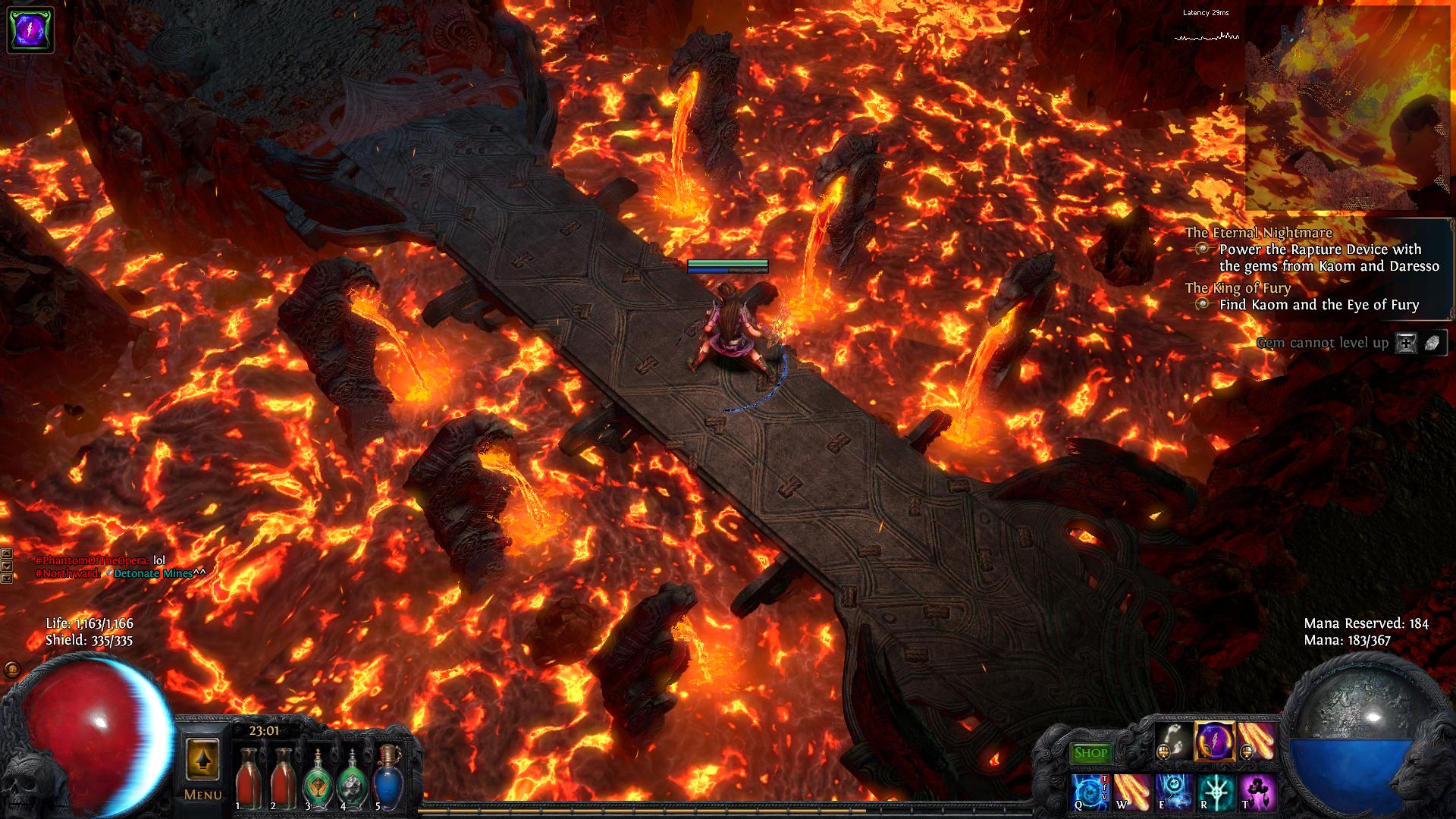 Koam's realm is dark, beautiful, and full of magma!