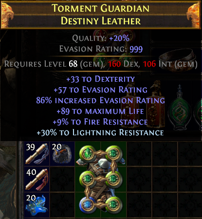 One of the most beautiful sights in the game. A 6L Chestpiece.