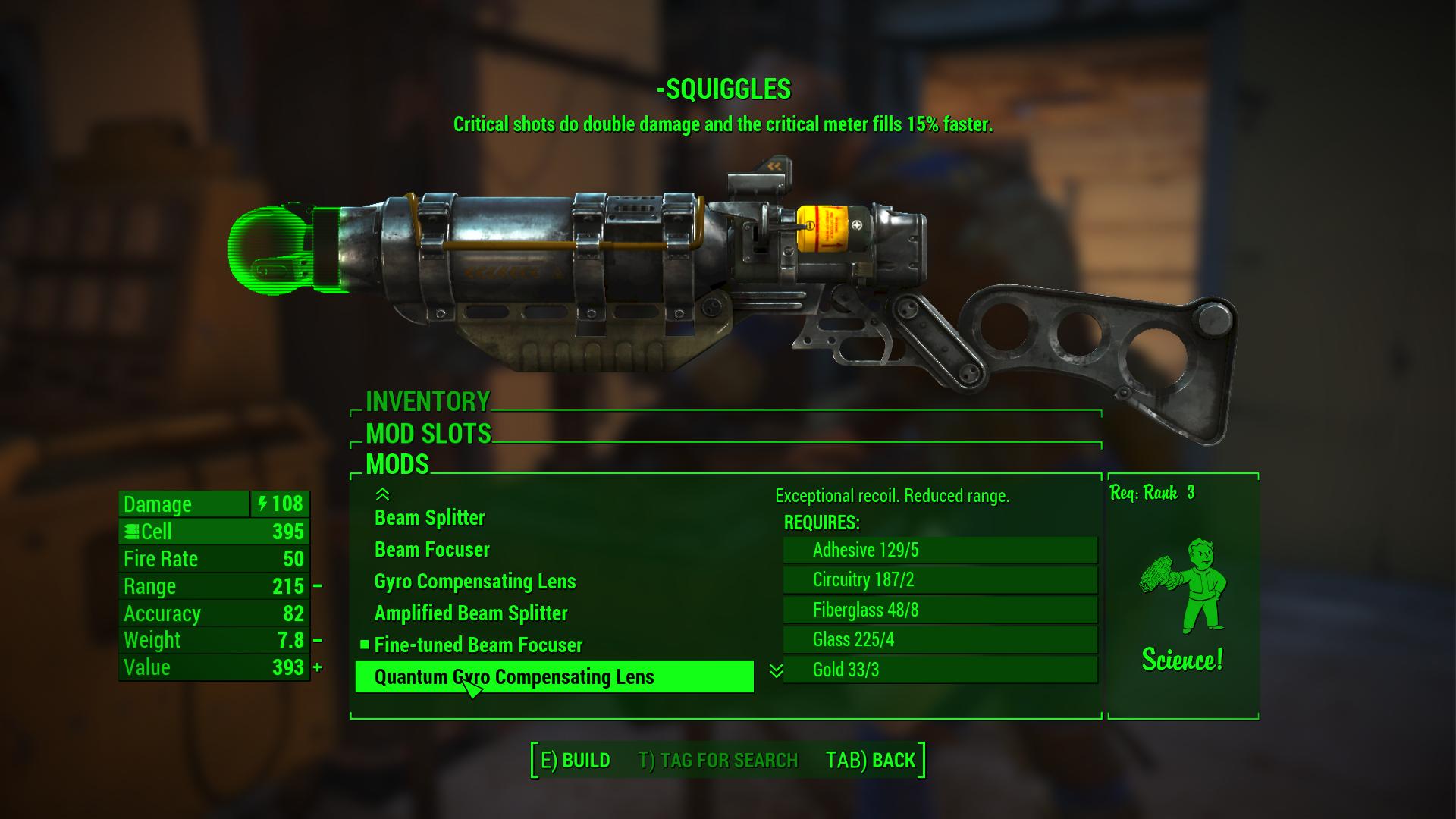 Time to modify Squiggles the laser devastator!