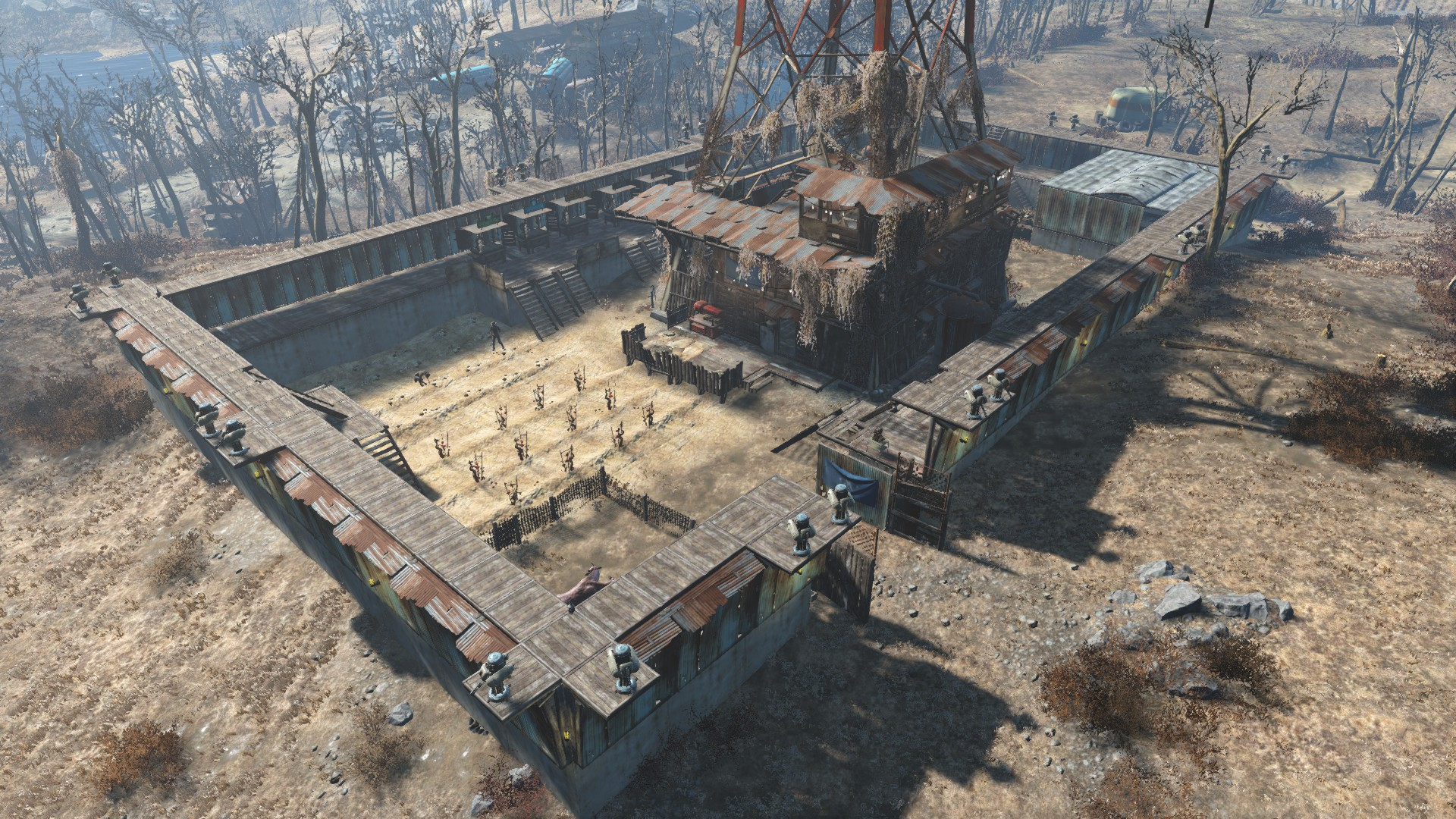 Players can build extensive structures with the new Settlement feature.